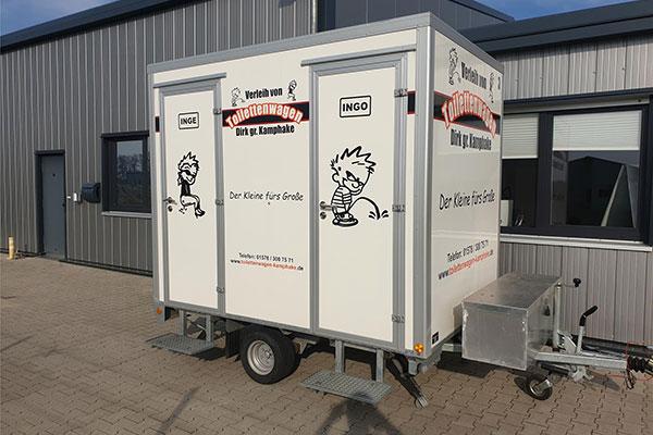 Baustellentoilette, unser Toilettenwagen Klassiker ist bestens geeignet