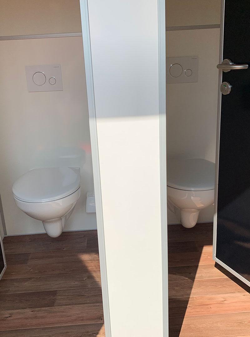 Innenansicht VIP-Toilettenwagen Damenkabine