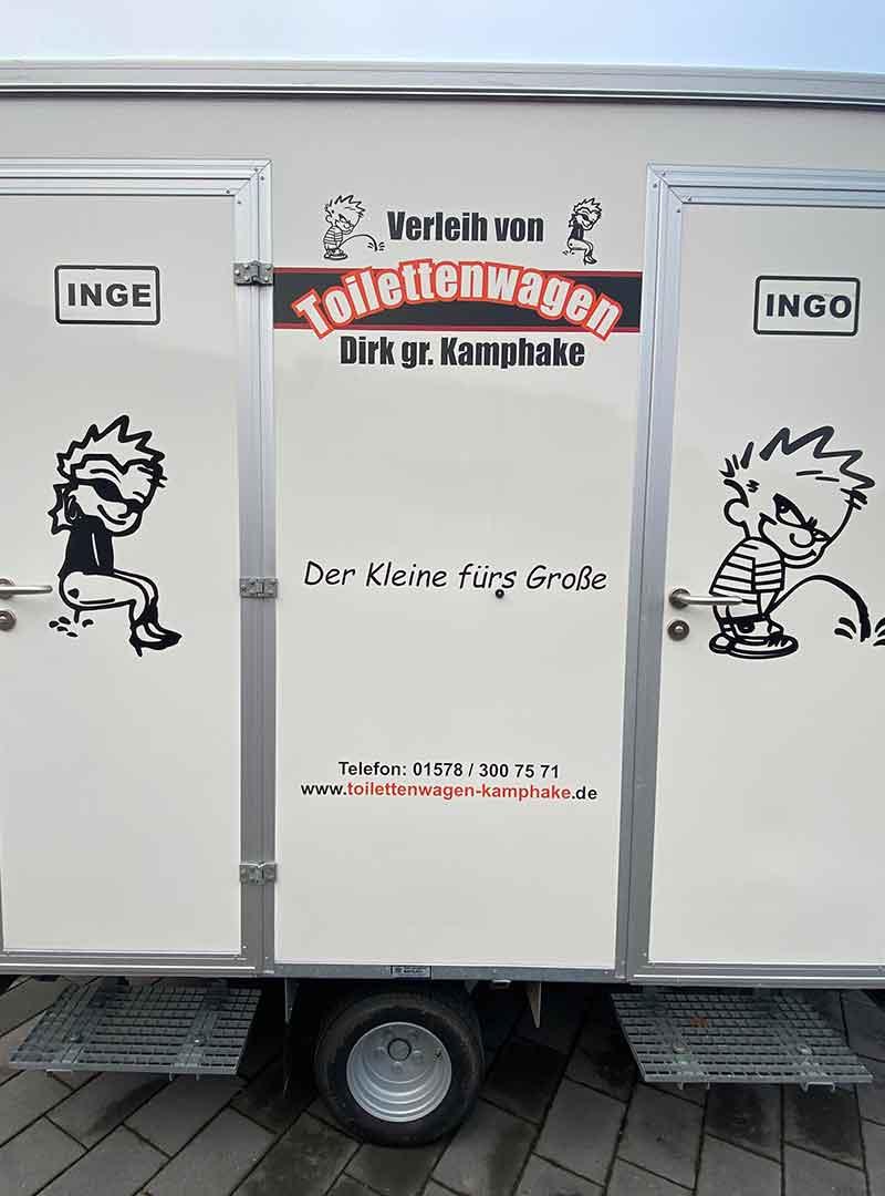 Toilettenwagen für Großbaustellen mieten